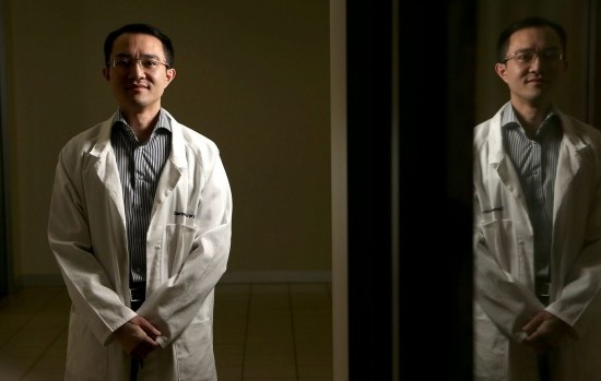 Neurosurgeon Michael Wong, seven months after the attack at the Western Hospital.  Photo: Patrick Scala